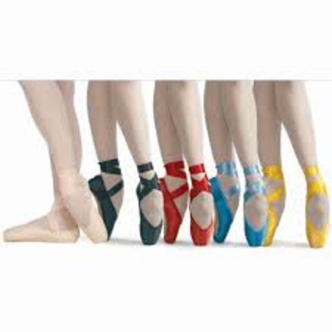 Colored Pointe Shoes