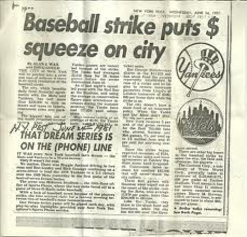a history and the effects of the 1981 major league baseball strike For 15 years, the major league baseball players association—under the tactful   of the regular season, the 1981 strike—and its resulting side effects—would.