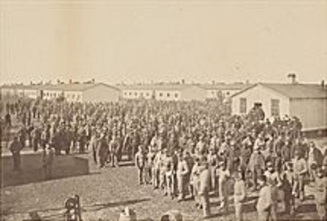 Founding  of Camp Douglas, a confderate prison camp