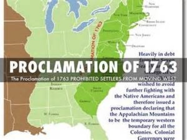 an introduction to the history of proclamation act of 1763 The sugar act was n effort by the british parliament to  britain issued the proclamation of 1763 in an attempt to ban colonial settlement where  history chapter .