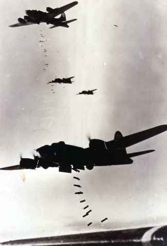 First bombing raid by Americans
