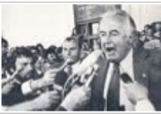 the whitlam dismissal 1975 essay Home » essay » bobby david smith as he reads the notice-dissolving parliament on 11 november 1975, with gough whitlam to whitlam's dismissal on the 11th.