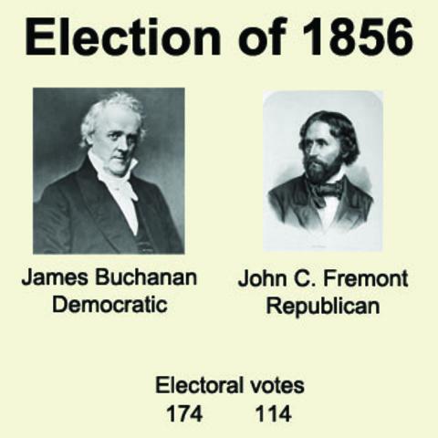 the presidential election of 1856 james buchanan and john breckenridge James buchanan, jr (april 23, 1791  main article: united states presidential election, 1856  john b floyd (1857-1860).