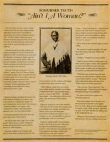 sojourner truth writings Visit this site for the sojourner truth speech entitled ain't i a woman free text for the sojourner truth speech on the ain't i a woman topic free example of a sojourner truth speech.