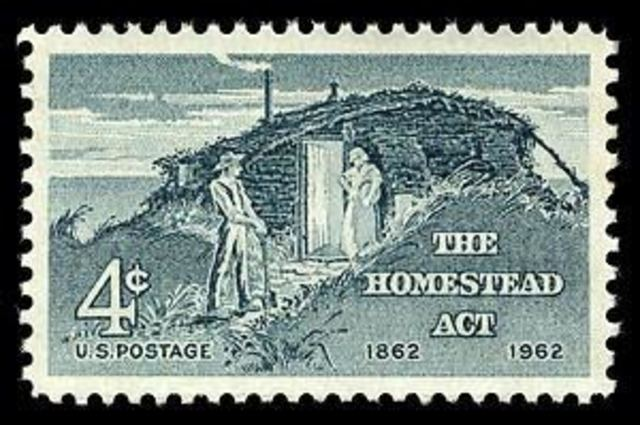 the homestead act After congress was emptied of southern slaveholding legislators, president  abraham lincoln, a republican, signed the homestead act of 1862.