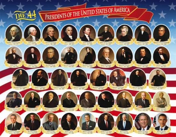 First presidents impacts timeline timetoast timelines for Pictures of all presidents of the united states in order