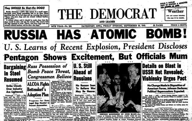 atomic diplomacy and the cold Kids learn about the history of the arms race during the cold war on august 29, 1949 the soviet union successfully tested its first atomic bomb.
