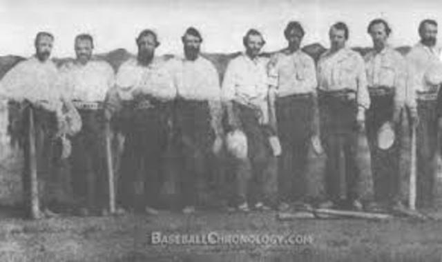 First Baseball Game Recorded