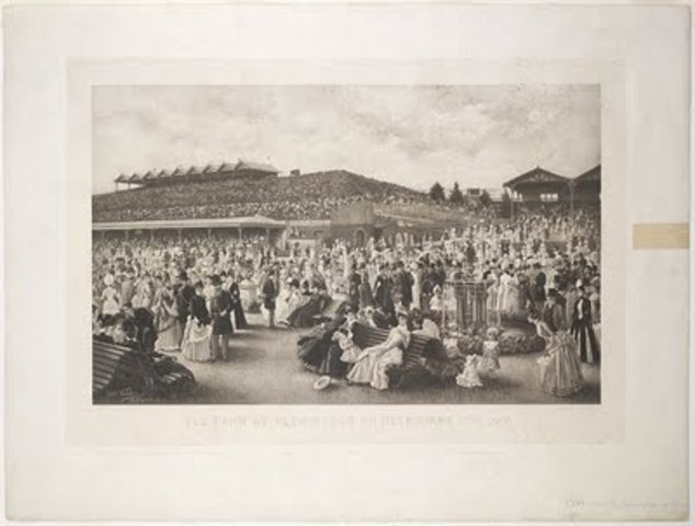 The first 100 000 attendance at a Melbourne Cup