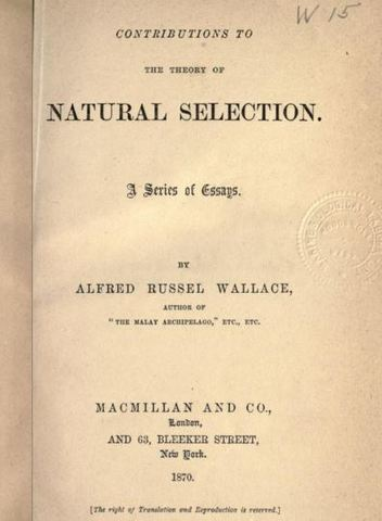 "Published ""Contributions to the Theory of Natural Selection"""