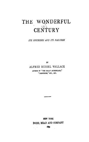 Published The Wonderful Century - Its Successes and Failures