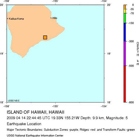 Island of Hawaii, Hawaii - M 5.2 Earthquake