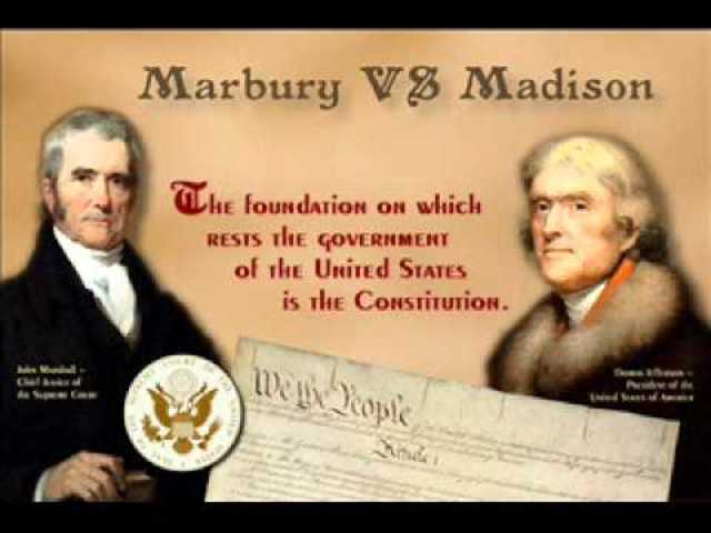 the conception and impact of the judicial review in the marbury versus madison case Supreme court case summaries the social studies help center social studies help for american history, economics and ap government there are class notes, numerous supreme court case summaries and information on how to write a research paper inside the judicial branch and marbury v madison judicial branch 1 article three of the constitution sets up the judicial branch.