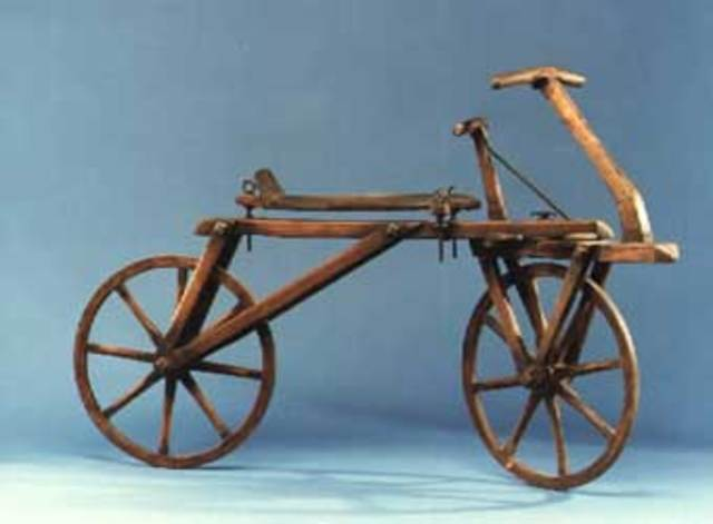 "the history of a bicycle as a vehicle invented by comte mede de sivrac of france The term of ""bicycle"" was coined in france in the  is the contention that a certain ""comte de sivrac"" developed a  when was the first bicycle invented."