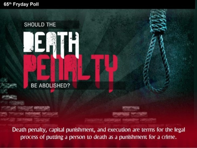 death penalty should be legalize in The death penalty on any given day, at any given time, there are 35 to 50 serial killers that are actively taking the lives of innocent people (diane dimond, creators.