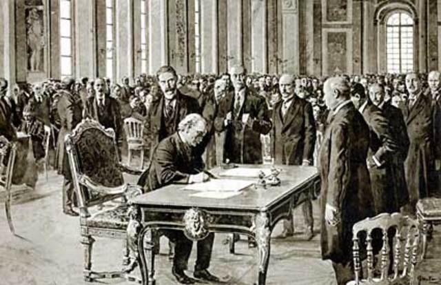 a history of the treaty of versailles in germany