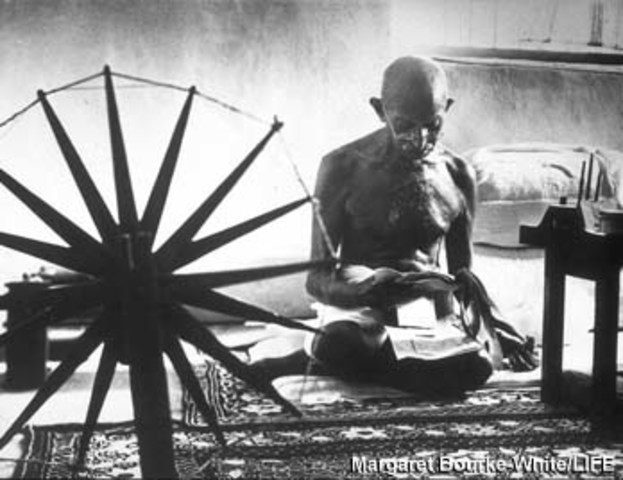 gandhi 1919 1947 Gandhi's nonviolent campaigns 1919-22 india's freedom struggle 1905-1918 afghan amir habibulla was murdered in february 1919 and was succeeded by his son amanullah, who was suspected of being behind the murder.
