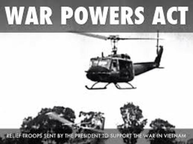 """1973 war powers act The ineffectiveness of the 1973 war powers resolution  ibid 46 """"o'neill  criticizes president war powers act is invoked,"""" new york times."""