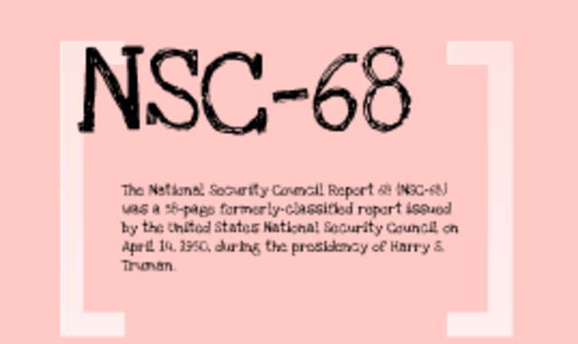 nsc-68 essay Nsc-68 and patriot act, history homework help studypool values your privacy having considered these questions, write an essay of at least 800 words that.