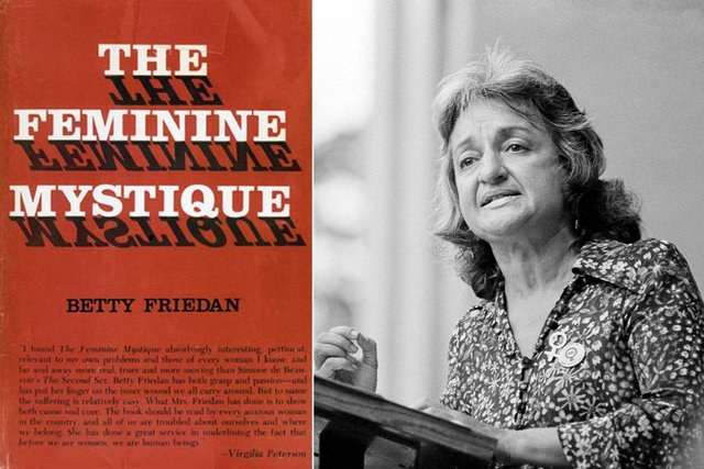 the problems of the females in america as narrated in the feminine mystique by betty friedan The reviewer lucy freeman called friedan out for blaming american culture as a source of women's oppression while freeman found this argument simplistic, others found the evidence overwhelming with the rise of television in post-war america, programming and new waves of advertising perpetuated the mythology that a woman's place was in the.