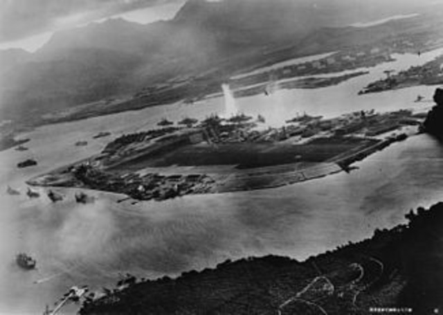 The Japanese Bomb Pearl Harbor