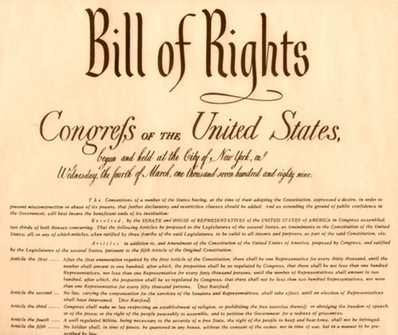Adding of the BIll of Rights
