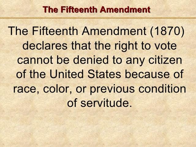 15th amendment date in Australia