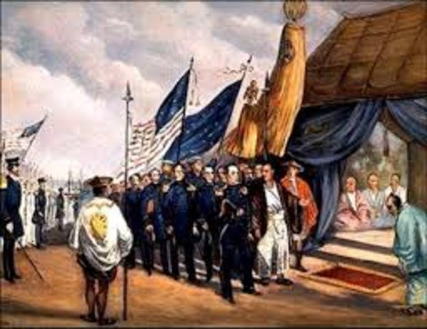 the treaty of kanagawa and the reluctant westernization of japan Having no other choice the japanese agreed and the result was the treaty of kanagawa of 1854 under the treaty's terms, japan was to open two ports at which us ships.
