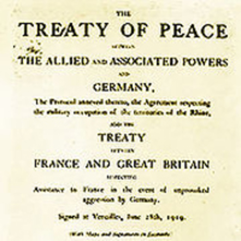 the peace treaties between 1919 and The treaty of versailles was the most important treaty of 1919–1920 it was the treaty with germany , and was decided by the big three  it was the treaty which set up the league of nations.