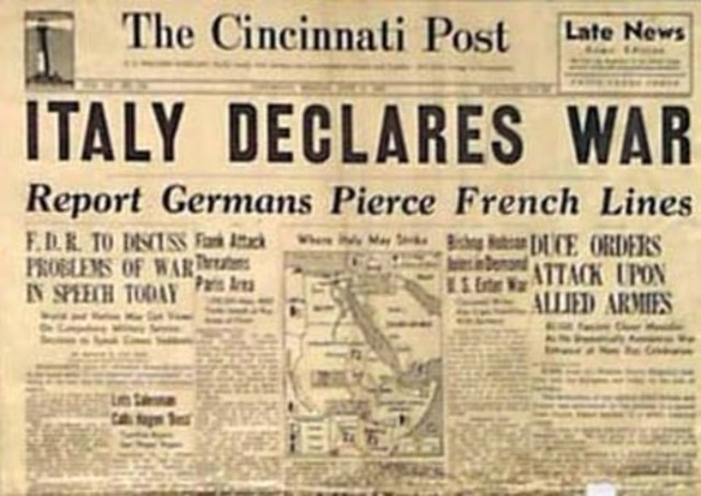 1941 germany and italy declare war on But now hitler changed the whole situation by declaring war on the united states   the sincere efforts of germany and italy to prevent an extension of the war.