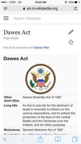 dawes severalaty act Study guide and teaching aid for the dawes severalty act featuring document text, summary, and expert commentary.