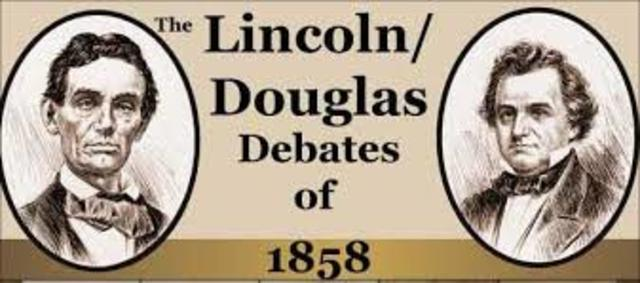lincoln douglas debate The lincoln-douglas debates the 7th and final debate between senatorial candidates abraham lincoln and stephen douglas was held on october 15, 1858, in alton, illinois today bronze statues of douglas and lincoln stand to commemorate the event at lincoln douglas square in alton.