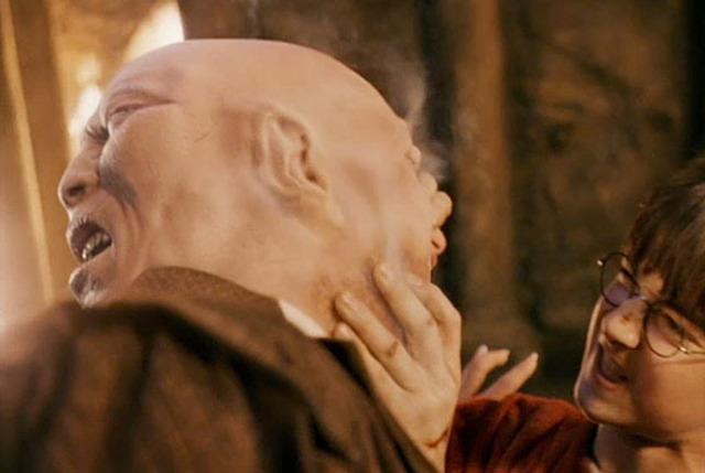 quirrell the sidekick of lord voldemort When the philosopher's stone appears in harry's possession, quirrell gets angry and reveals that he is lord voldemort, possessing quirrell's body harry fights off lord voldemort's elemental powers, and destroys quirrell's body by touching him.