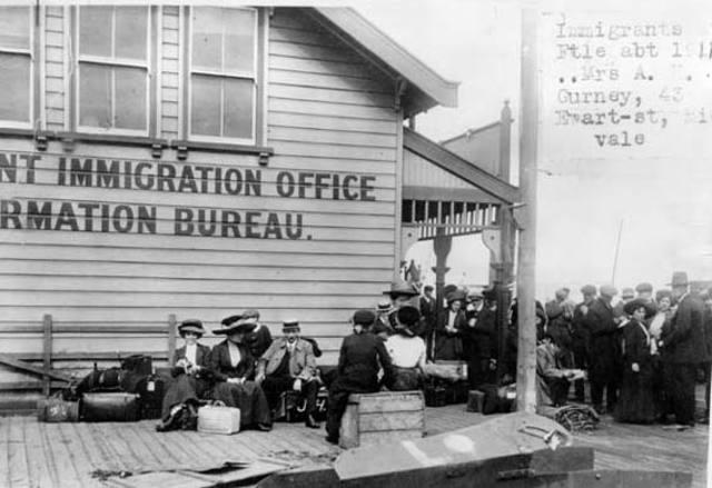 Population and settlement timeline timetoast timelines - Bureau immigration canada montreal ...