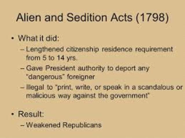 the bitter controversies of the alien and sedition acts of 1798 Alien and sedition act of 1798 the four laws, which were collectively called the alien and sedition acts  although these acts were controversial and a.