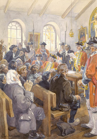 Announcement of the Expulsion of the Acadians