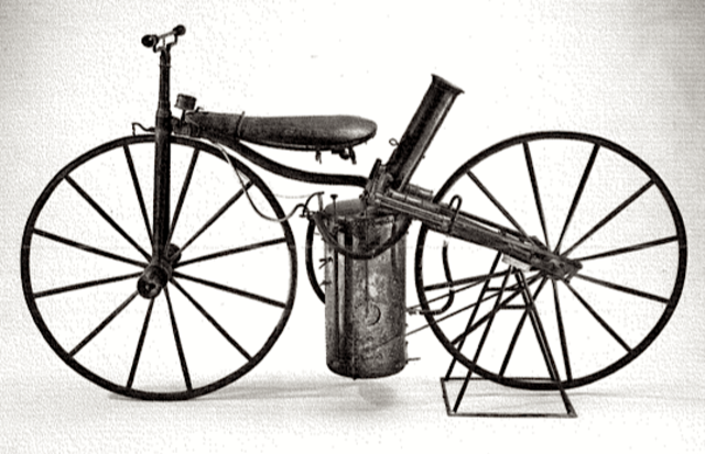 the invention and history of the steam powered bicycle Steam engines powered cars by burning fuel that heated water in a boiler, creating steam that expanded and pushed pistons that turned the crankshaft, which then turned the wheels during the early history of self-propelled vehicles - both road and railroad vehicles were being developed with steam engines.