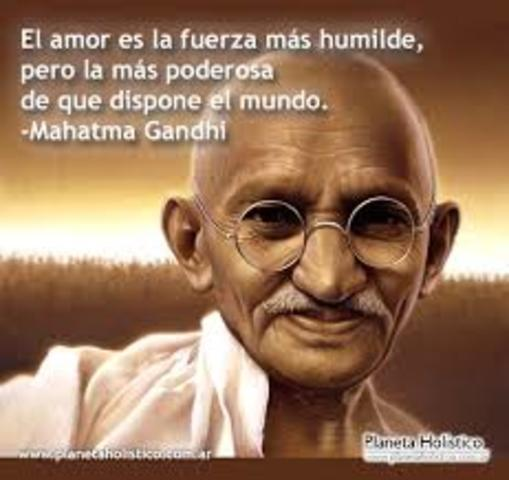 Gandhi. (1893 A 1948), Inicio Del Movimiento Gandhiano