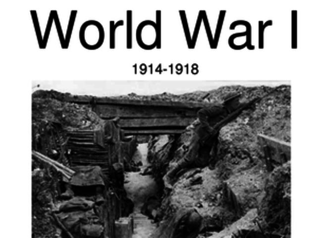 World war 1 date