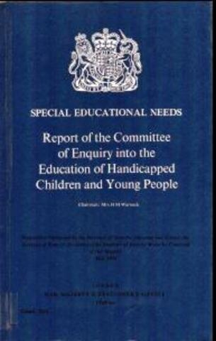warnock report The warnock report is a document prepared by the british commission of education in 1978 referring to the special educational needs of children this writing is based.