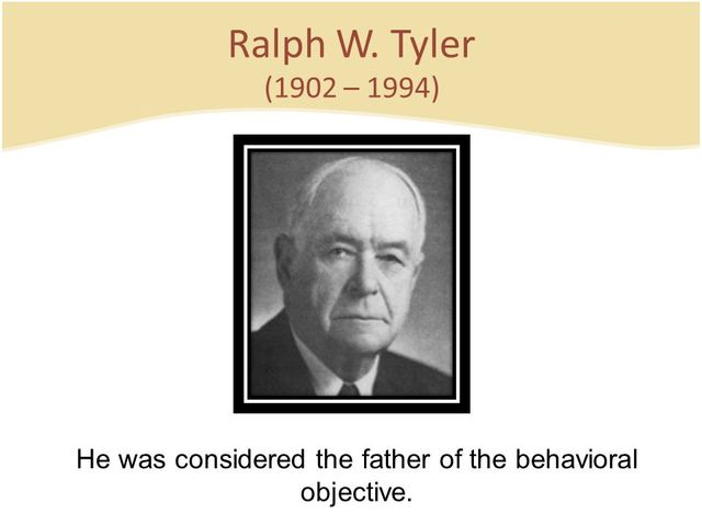 ralph tyler Two of your readings this week focused on the relevancy of the classic curriculum theories/models of ralph w tyler and hilda taba based on the readings and what you have learned in this course so far, do you think the tyler and taba models remain applicable to 21st century teaching and learning.