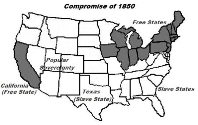 what was the 1850 compromise and why The 1850's were a time of attempted compromise when compromise was no longer possible the 1850's were one of a chaotic time in american historythe north and the south were fighting over the slavery issues.