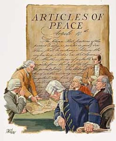 Treaty of paris date in Perth