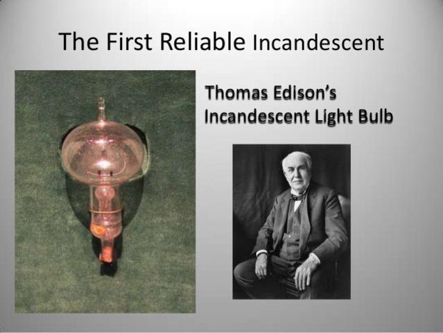 Incandescent light bulb thomas edison