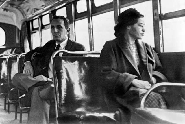 Rosa Parks Refuses to Give Up Her Bus Seat