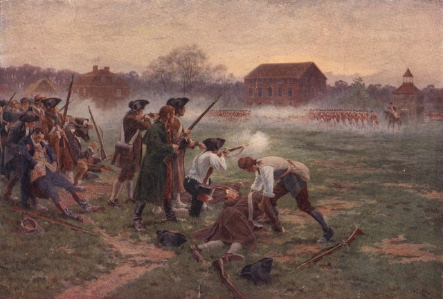 an overview of the 1775 american british engagement shot heard around the world