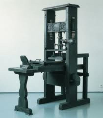 Invention of the printing press