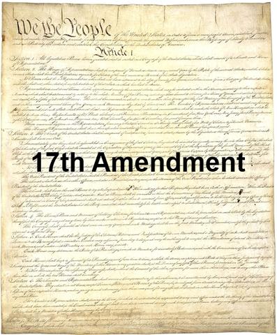 17th Amendment Timeline Timetoast Timelines