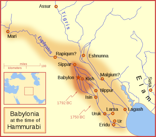 Hammurabi takes over Most of Mesopotamia