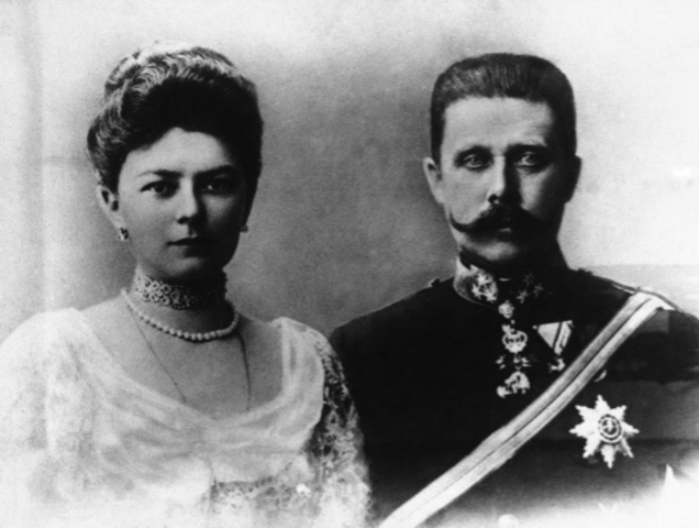 The Assassination of Archduke Franz Ferdinand and his wife Sophie